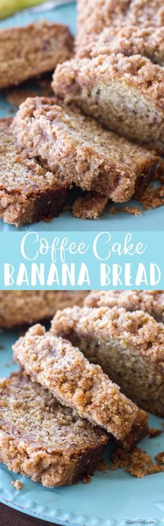 This classic banana bread recipe is topped with a sweet crumb topping making it a cross between a quick bread and coffee cake! The best banana bread recipe meets a homemade coffee cake with crumb topping and it makes a fabulous breakfast! Low Carb Dessert, Oreo Dessert, Dessert Bread, Banana Dessert, Mini Desserts, Just Desserts, Delicious Desserts, Yummy Food, Weight Watcher Desserts