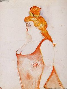 Toulouse Lautrec - Mademoiselle Coyte as La Belle Helene, 1900