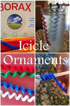 Icicle Ornament Craft Tutorial