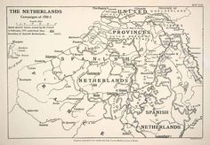 1948 Print Map Netherlands Military Campaign War Spanish Succession Dutch XEM5 | eBay