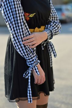 Zaful #gingham blouse
