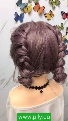 Hairdo For Long Hair, Braids For Short Hair, Cute Hairstyles For Short Hair, Up Hairstyles, Braided Hairstyles, Front Hair Styles, Medium Hair Styles, Hair Upstyles, Aesthetic Hair