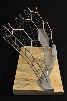 Structural Model: The Eden Project by Kyle Schumann, via Behance Architecture Design, Concept Architecture, Stadium Architecture, Canopy Architecture, Structural Model, Arch Model, Modelos 3d, Digital Fabrication, D House