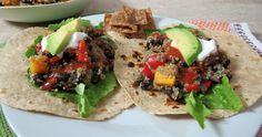 Taco Night  - Black Beans and Butternut Squash Quinoa
