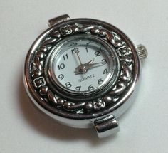 1 Quartz Watch Face, Round Antiqued Silver Tone- craft supplies, jewelry making W16AS by AndreasArtJewelry on Etsy