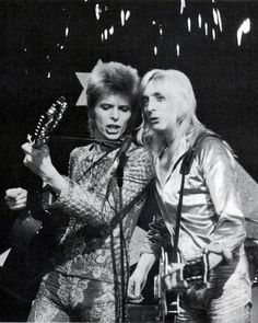 David Bowie and Mick Ronson.