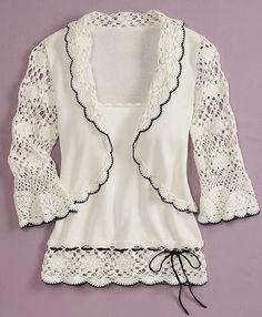 Crochet excepcional: top de ganchillo diseños