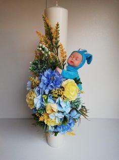 Lumanare botez Flori artificiale handmade by Deco-Ad Album, Baby, Home Decor, Corona, Decoration Home, Room Decor, Baby Humor, Home Interior Design, Infant