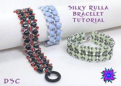 Silky Rulla Cuff Style Bracelet Tutorial by DesertStarCreations