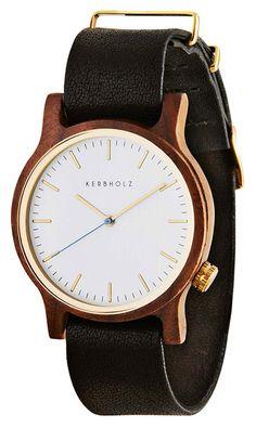 Kerbholz Armbanduhr  WILMA Walnut/Black 0612524230810 versandkostenfrei, 100 Tage Rückgabe, Tiefpreisgarantie, nur 159,00 EUR bei Uhren4You.de bestellen