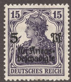 "1911 Offices in Morocco: Scott 54 on German stamps of 1905 surcharged ""Marokko"" Quick History This section is not really "". German Confederation, Treaty Of Versailles, German Stamps, Empire, Stamp Collecting, Postage Stamps, Wwii, Vintage World Maps, Germany"