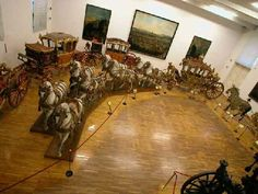 Royal 18th Century carriages. Schonbrunn Palace, Vienna