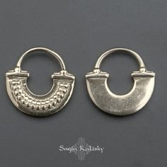 This unique handmade septum ring for a pierced nose made out of 925 sterling silver, available in 16g septum ring and 18g septum ring. Inspired by tribal