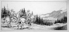 Magnus - original drawing for Tex, special giant album (Texone) no. 9 - (1999) - W.B.