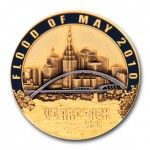 Flood of May 2010 3D Coin
