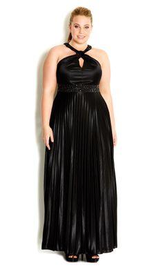 8c6a30ff47fb4 City Chic - BEAD NECK PLEAT MAXI DRESS - Women s plus size fashion   citychic  citychiconline  newarrivals  plussize