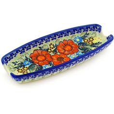 Ceramika Bona Polish Pottery Ceramic Corn Tray Hand Painted *** You can find more details by visiting the image link. (This is an affiliate link)