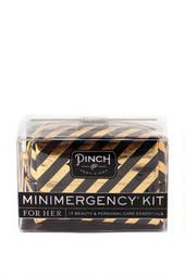 Minimergency Kit for Her in Black and Gold.  This is like the best idea ever! Just hope you don't forget the kit :P