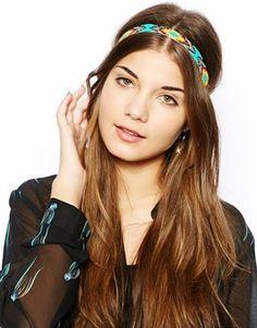 New Look Carnival Bead Elastic Headband