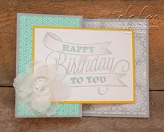 Stampin' Dolce: Z fold card with Another Great Year & Eastern Elegance dsp Stampin Up!