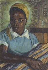 Girl with firewood George Pemba · 1957 South Africa Art, South African Artists, Portrait Art, Portraits, Art Database, African American Art, Paintings I Love, Black Art, Art And Architecture