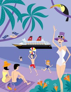 I love the mid-century feeling of this print. Castaway Cay, Disney Cruise Line