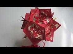 CNY TUTORIAL NO. 37 - 12-unit Square Red Packet (Hongbao) Lantern 1 (怎么用新年红包做爆竹)…