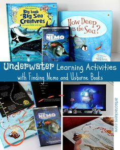Underwater Learning Activities with Finding Nemo and Usborne Books