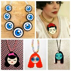 """""""All these amazing Baccurelli necklaces are available at vintagepip.com.au #vintagepip #baccurellilove #statemejewelry #artistdesignedandmade #laartist…"""""""