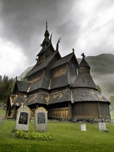 12th Century Wooden Church, Borgund, Sogn og Fjordane, Norway | See more Amazing Snapz