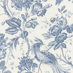 Fabric Birds, Blue Fabric, Fabric Wallpaper, Pattern Wallpaper, Kitsch, Overlays, Chintz Fabric, Pillow Cover Design, Diy Carpet