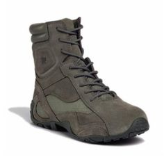 "The Kiowa is a high top with an assault boot feel.  The Tactical Research 8"" Kiowa Assault Boot features athletic styling along with the TR-1 Height Performance Insole, combining advanced anatomical design to state-of-the-art materials to specifically meet the rigorous demands of military and tactical use.  The insoles are the TR-1 high performance insoles, which have a deep contoured heel cup that stabilizes the heel.  The extended arch support corrects over pro-nation"