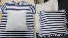 t shirt pillow Recycled T Shirts, Recycled Crafts, Sewing Pillows, Diy Pillows, Throw Pillows, Decorative Pillows, Cushions, Sewing Hacks, Sewing Projects