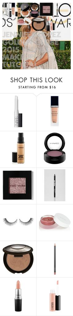 """Jennifer Lopez Golden Globe 2015 Inspired Makeup Tutorial"" by oroartye-1 on Polyvore featuring beauty, Jennifer Lopez, Chanel, NARS Cosmetics, Christian Dior, MAC Cosmetics, Bobbi Brown Cosmetics, Ardency Inn, rms beauty and Becca"