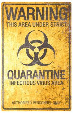 Dapper Cadaver - Metal Quarantine Biohazard Sign, $10.00 (http://www.dappercadaver.com/products/metal-quarantine-biohazard-sign.html)