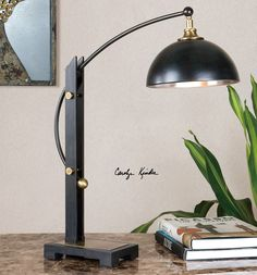 Malcolm Oil Rubbed Bronze Desk Lamp   Premier Home Decor