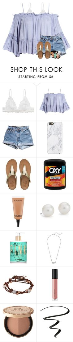 """no one likes shady beaches"" by theblonde07 ❤ liked on Polyvore featuring Monki, Sans Souci, Levi's, Casetify, FitFlop, MAC Cosmetics, Blue Nile, Victoria's Secret, Kendra Scott and Chan Luu"