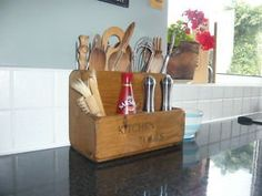 The Old Country Farmhouse Country Farmhouse Kitchen Tool Store/Utensils/Rack/Stand~Rustic Wooden Display