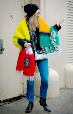 Try these three ways to tie a blanket scarf when the temperatures really drop this winter.
