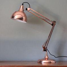 Ideas for Buy a Rose Gold Desk Lamp Gold Desk, Gold Table, Copper Table, Copper Lamps, Copper Decor, Black Table, Bedside Lamp, Desk Lamp, Table Lamps