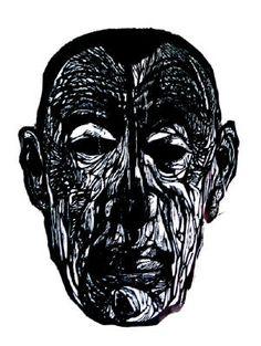Jacob Landau, portrait of Rachmaninoff, woodcut