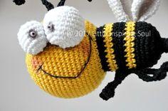 Free crochet pattern : little bee by Little Inspiring Soul
