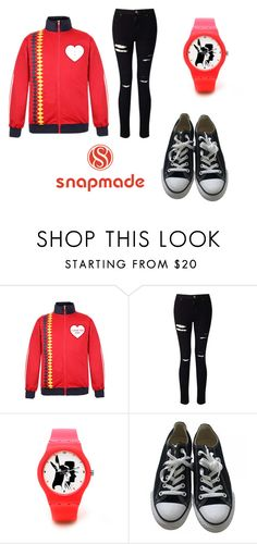 """1 Snapmade"" by sanela-avdic-mutapcic ❤ liked on Polyvore featuring Miss Selfridge and Converse"