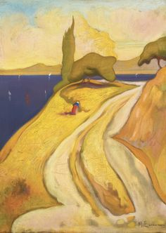 Michalis Economou (Greek, 1888-1933) From Oropon (The Road), N/D   By Michalis Economou