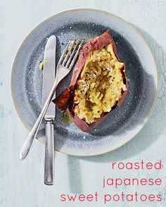 Simply prepared with olive oil, flaky sea salt and pepper, these roasted Japanese sweet potatoes -- which are loaded with fiber and vitamin C -- are both delicious and good for you.