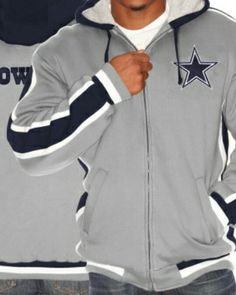 dbe6e39b8 Dallas Cowboys-Full Zip Sweater Dallas Cowboys Sweatshirt