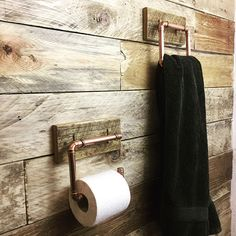 Toilet roll and towel holder Handmade from Reclaimed Pallet