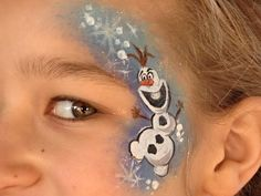 Olaf face painting. Frozen. Pattyofurniture facepaintforum