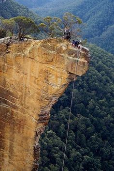 This is Hanging Rock, Blackheath, Australia. A 100m-high block of sandstone detached from the adjacent cliff face, Hanging Rock is a climbing destination in New South Wales' Grose Valley. To get there, take the dirt Ridgewell Rd. out of Blackheath for 2.5km until it ends at the trailhead for Baltzer Lookout. This is 15 of 60 of the most amazing rock formations in the world.