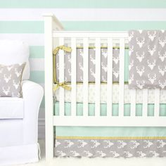 Woodland Deer Designer Baby Bedding 2 or by CadenLaneBabyBedding